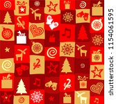 holiday seamless pattern.... | Shutterstock .eps vector #1154061595