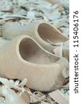 New Dutch Wooden Clogs On A...