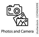 camera with images denoting... | Shutterstock .eps vector #1154063098