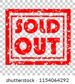 rubber stamp  sold out ... | Shutterstock .eps vector #1154064292