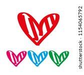 red heart icon vector. love... | Shutterstock .eps vector #1154065792