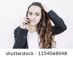 confident young business lady...   Shutterstock . vector #1154068048