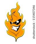 fire  mascot tattoo vector   Shutterstock .eps vector #115407346
