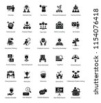 solid vector icons of human... | Shutterstock .eps vector #1154076418