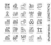 logistics delivery vector... | Shutterstock .eps vector #1154079742
