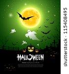 happy halloween ghost design... | Shutterstock .eps vector #115408495