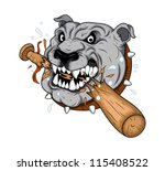 Dog Mascot tattoo Vector