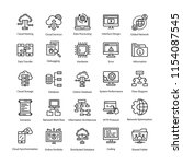 programming icons set   | Shutterstock .eps vector #1154087545