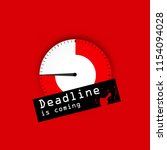 deadline red background .... | Shutterstock .eps vector #1154094028