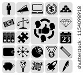 set of 22 business high quality ... | Shutterstock .eps vector #1154098918