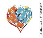 colorful vivid and joyful shape ... | Shutterstock .eps vector #1154101432
