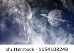 mystery of space world | Shutterstock . vector #1154108248