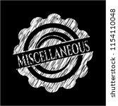 miscellaneous chalk emblem | Shutterstock .eps vector #1154110048
