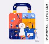 illustrations flat design...   Shutterstock .eps vector #1154114305