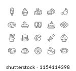 simple set of dessert related... | Shutterstock .eps vector #1154114398