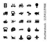 transportation icons set  | Shutterstock .eps vector #1154115988