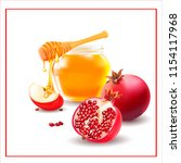happy shana tova.vector honey.... | Shutterstock .eps vector #1154117968