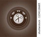 scissors icon inside retro... | Shutterstock .eps vector #1154118685