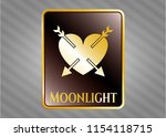shiny emblem with heart with...   Shutterstock .eps vector #1154118715