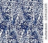 wildcat fur seamless pattern.... | Shutterstock . vector #1154126155
