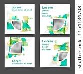 set of square color brochures ... | Shutterstock .eps vector #1154134708