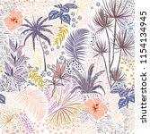 sweet pastel hand sketch... | Shutterstock .eps vector #1154134945