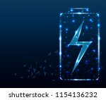 battery charging icon. stardust ... | Shutterstock .eps vector #1154136232