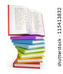 a stack of colorful books with... | Shutterstock . vector #115413832