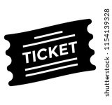 a torn pass with ticket text... | Shutterstock .eps vector #1154139328