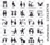 set of 25 transparent icons... | Shutterstock .eps vector #1154139748