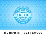 carefree sky blue water wave... | Shutterstock .eps vector #1154139988