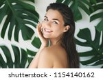 portrait of young and beautiful ... | Shutterstock . vector #1154140162