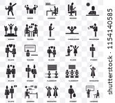 set of 25 transparent icons... | Shutterstock .eps vector #1154140585