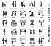 set of 25 transparent icons... | Shutterstock .eps vector #1154140642