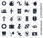 set of 25 transparent icons... | Shutterstock .eps vector #1154140672