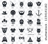 set of 25 transparent icons... | Shutterstock .eps vector #1154141182