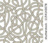 seamless nautical rope pattern. ... | Shutterstock . vector #1154143078