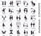 set of 25 transparent icons... | Shutterstock .eps vector #1154143192
