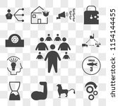 set of 13 transparent icons... | Shutterstock .eps vector #1154144455