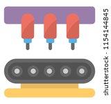 conveyor belt with package ... | Shutterstock .eps vector #1154144845