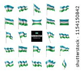 uzbekistan flag  vector...   Shutterstock .eps vector #1154150842