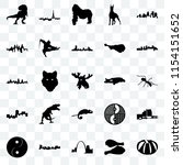 set of 25 transparent icons... | Shutterstock .eps vector #1154151652