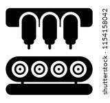 conveyor belt with package ... | Shutterstock .eps vector #1154158042