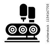 conveyor belt with package ... | Shutterstock .eps vector #1154167705