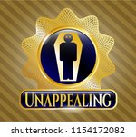 gold emblem or badge with dead ... | Shutterstock .eps vector #1154172082