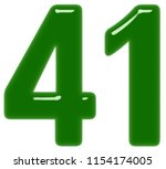 numeral 41  forty one  isolated ... | Shutterstock . vector #1154174005