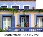 Traditional Style Colored Hous...