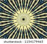 abstract circular ornament of... | Shutterstock . vector #1154179465