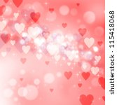 valentine's day background with ... | Shutterstock . vector #115418068