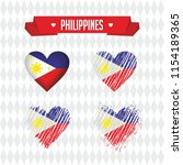 philippines. collection of four ... | Shutterstock .eps vector #1154189365